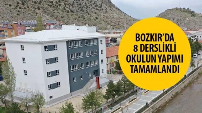 Bozkır'da 8 Derslikli Okulun Yapımı Tamamlandı