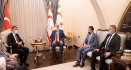 Cumhurbaşkanı Ersin Tatar, TBMM – Kuzey Kıbrıs Türk Cumhuriyeti Dostluk Grubu heyetini makamında kabul etti
