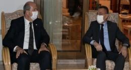 Oktay, Cumhurbaşkanı Tatar'a taziye ziyaretinde bulundu