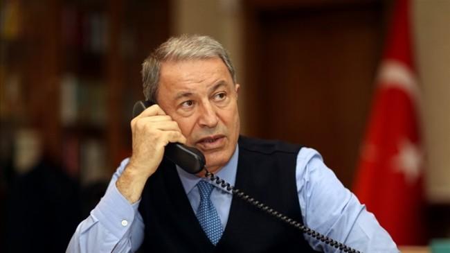 Bakan Akar, ABD Savunma Bakanı LIoyd James Austin ile Telefonda Görüştü