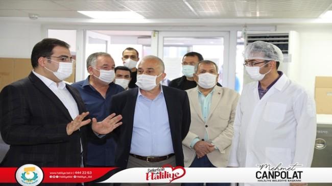Gıda Tarım ve Hayvancılık Eski Bakanı Fakıbaba, Başkan Canpolat ile Sosyal Yardım Kompleksini Gezdi
