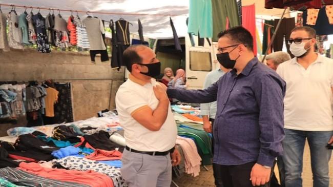 Halfeti Belediye Başkanı Şeref Albayrak, Esnaf ve vatandaşlarla buluştu