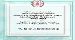 """""""MÜZİK SUSMASIN"""" PROJE DESTEĞİ HAZİRAN'DA DA DEVAM EDECEK"""