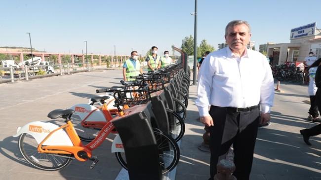 """Büyükşehir Belediyesi """" URFABİS Akıllı Bisiklet """" Projesini de hayata geçirdi"""