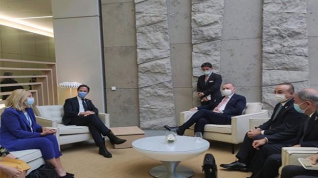 Cumhurbaşkanı Erdoğan, Hollanda Başbakanı Rutte ile görüştü