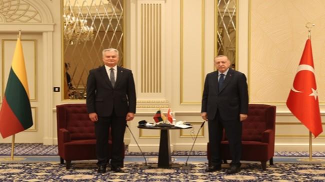 Cumhurbaşkanı Erdoğan, Litvanya Cumhurbaşkanı Nauseda ile bir araya geldi