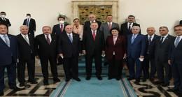 Cumhurbaşkanı Erdoğan, Azerbaycan Millî Meclisi Türkiye Dostluk Grubu heyetini kabul etti