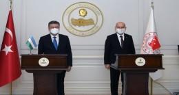 Bakan Soylu Özbekistan Cumhuriyeti İçişleri Bakanı Sn. Pulat Bobojonov İle Bir Araya Geldi