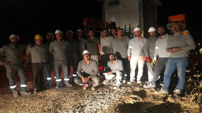 Diyarbakır'da iki günde 3.2 kilometre enerji nakil hattı döşendi