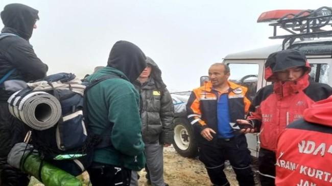 Uludağ'da Kaybolan 4 Arkadaş, AFAD ve JAK Timleri Tarafından Bulundu