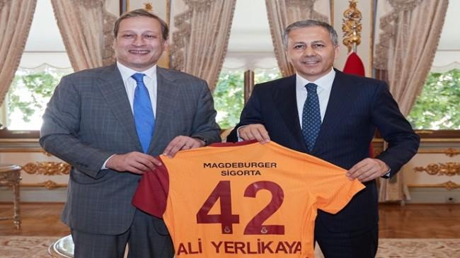 Galatasaray Başkanı Burak Elmas, Vali Yerlikaya'yı Ziyaret Etti