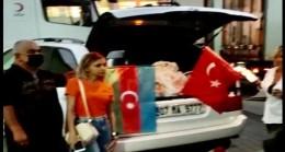AZERBAYCAN HALKLAR DOSTLUĞU DERNEĞİ MANAVGAT `A DESTEK YARDIMINDA BULUNDU