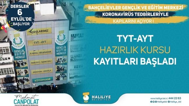 HALİLİYE'DE TYT-AYT KURSU KAYITLARI BAŞLADI