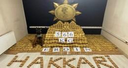 Hakkari Yüksekova'da 566 Kilogram Eroin Ele Geçirildi