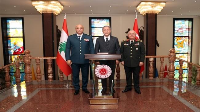 Bakan Akar, Lübnan Silahlı Kuvvetler Komutanı Korgeneral Joseph Aoun'u Kabul Etti